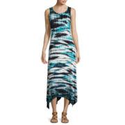 a.n.a® Sleeveless Tie-Dye High-Low-Hem Tank Maxi Dress