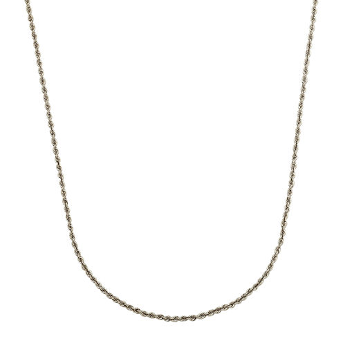 "LIMITED QUANTITIES! 14K White Gold Hollow 20"" Rope Chain Necklace"