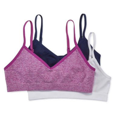 jcpenney.com | Maidenform 3-pk. Purple White Navy Seamless Bras