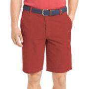 IZOD® Seersucker Flat-Front Shorts