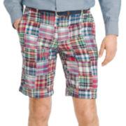 IZOD® Madras Flat-Front Shorts
