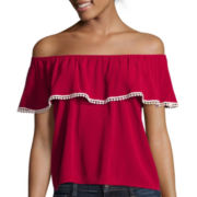 Arizona Short-Sleeve Senorita Ruffle Top