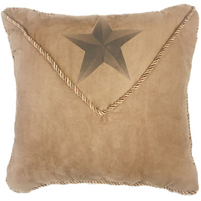 HiEnd Accents Luxury Star Square Decorative Pillow