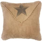 HiEnd Accents Luxury Star Square Decorative Pillow