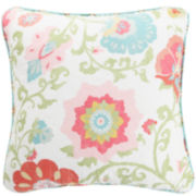 MaryJane's Home Garden Jacobean Square Decorative Pillow