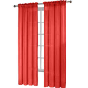 Fiesta® 2-Pack Sheer Rod-Pocket Curtain Panels