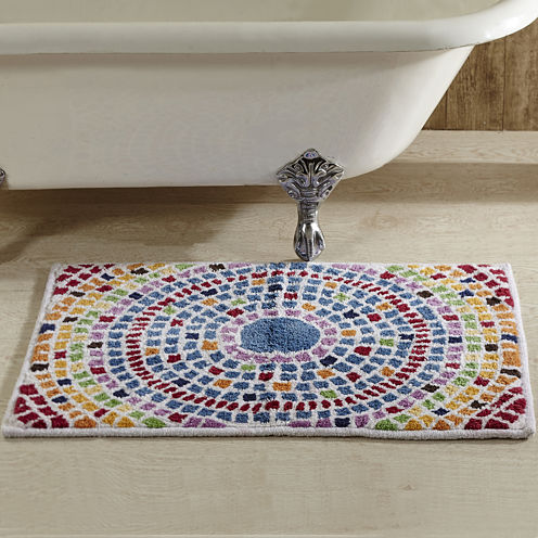 Better Trends Picasso Mosaic Bath Rug Collection