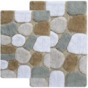 Chesapeake Merchandising Pebbles 2-pc. Bath Rug Set