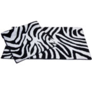 Chesapeake Merchandising Zebra 2-pc. Bath Rug Set