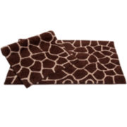 Chesapeake Merchandising Giraffe 2-pc. Bath Rug Set