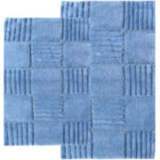 Chesapeake Merchandising Checkerboard 2-pc. Bath Rug Set
