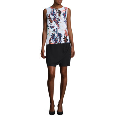 jcpenney.com | Liz Claiborne® Sleeveless Printed Blouse or Front-Wrap Skort
