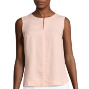 Liz Claiborne® Sleeveless Blouse - Tall