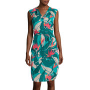 Liz Claiborne® Sleeveless Tropical Dress - Tall