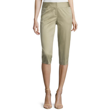 jcpenney.com | Worthington® Sateen Cropped Pants