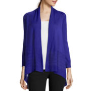 Worthington® Long-Sleeve Open-Front Flyaway Cardigan