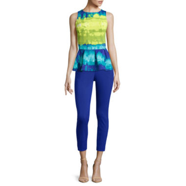 jcpenney.com | Worthington® Sleeveless Peplum Top or Slim-Fit Ankle Pants
