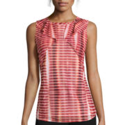 Worthington® Sleeveless Flutter-Sleeve Top