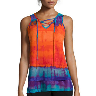 jcpenney.com | Worthington® Sleeveless Lace-Up Top