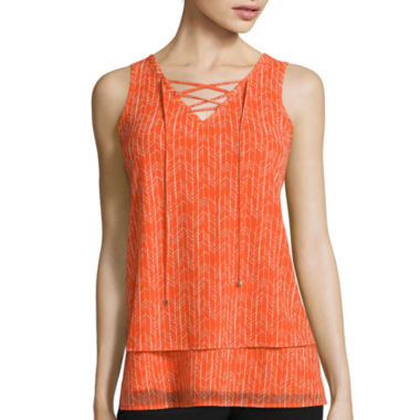 jcpenney.com | Worthington® Lace-Up Tank Top - Tall