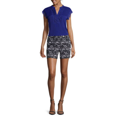 jcpenney.com | Worthington® Sleeveless Lace Trim Blouse or Sateen Shorts