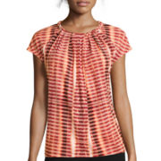 Worthington® Braided-Neck Cap-Sleeve Top