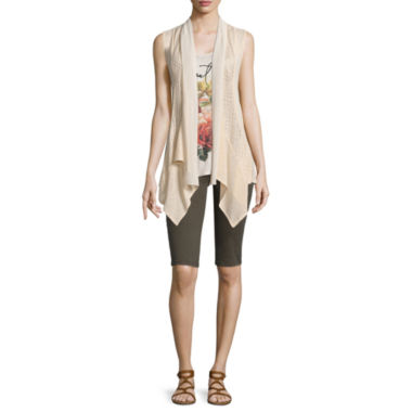 jcpenney.com | i jeans by Buffalo Cozy Vest, Screen Tank Top or Skinny Bermuda Shorts
