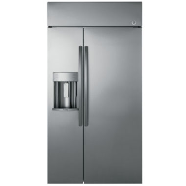 "jcpenney.com | GE Profile™ Series 42"" Built-In Side-by-Side Refrigerator with Dispenser"