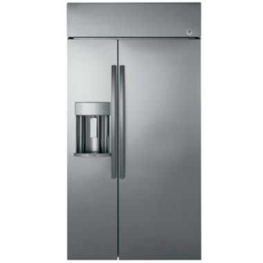 "jcpenney.com | GE Profile™ Series 48"" Built-In Side-by-Side Refrigerator with Dispenser"
