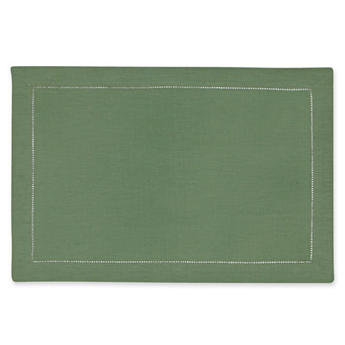 jcp EVERYDAY™ 4-pc. Hemstitched Linen Placemat Set