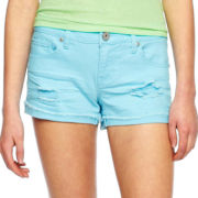 Sapphire Ink Destructed Roll-Fray Shorts
