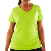 Xersion™ Short-Sleeve V-Neck Melange Tee - Plus