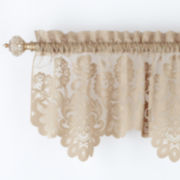 jcp home™ Shari Lace Rod-Pocket Tailored Valance