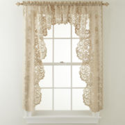 JCPenney Home™ Shari Lace Rod-Pocket Cascade Valance