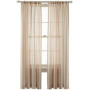MarthaWindow™ Portrait Stripe Rod-Pocket/Back-Tab Curtain Panel
