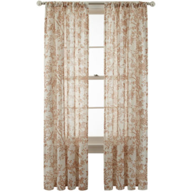 jcpenney.com | MarthaWindow™ Parkside Rod-Pocket/Back-Tab Curtain Panel