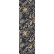 Nourison® Windy Leaves Hand-Hooked Rectangular Rug