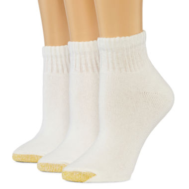 jcpenney.com | GoldToe® 3-pk. Ultra Tec Quarter Socks