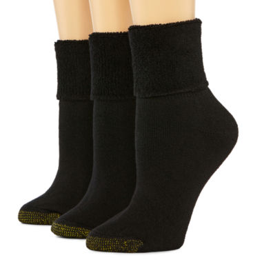 jcpenney.com | GoldToe® 3-pk. Ultra Tec Turn-Cuff Socks