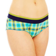 Flirtitude® Cotton-Blend Boykini Panties