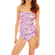 Arizona Zebra Print Bandeaukini Swim Top or Hipster Bottoms