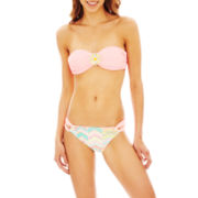 Arizona Medallion Bandeau Swim Top or Print Hipster Bottoms