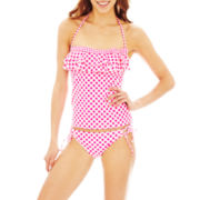 Arizona Check Print Bandeaukini Swim Top or Hipster Bottoms