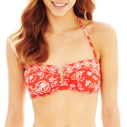 Arizona Bandana Print V-Wire Bandeau Swim Top