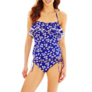 Arizona Daisy Print Bandeaukini Swim Top or Hipster Bottoms