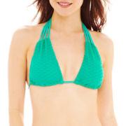 Bisou Bisou® Knit Slider Halter Swim Top