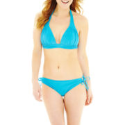 Bisou Bisou® Banded Halter Swim Top or Hipster Bottoms