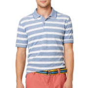 Arrow® Bar-Striped Oxford Piqué Polo