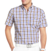 IZOD® Golf Plaid Popover Top