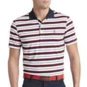 IZOD® Golf Feeder-Striped Jersey Polo